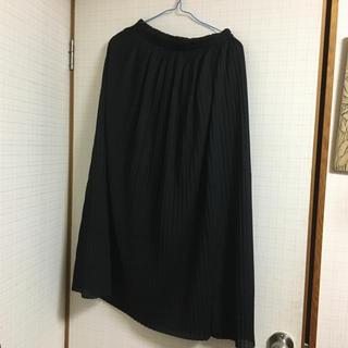 w closet - ロングプリーツスカート 黒