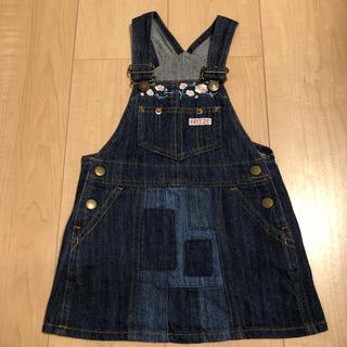 ブリーズ(BREEZE)のBREEZE ブリーズ デニム ジャンパースカート  女の子 85 90 95(スカート)