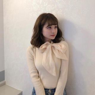 ZARA - ♡ ribbon tie rib knit ♡