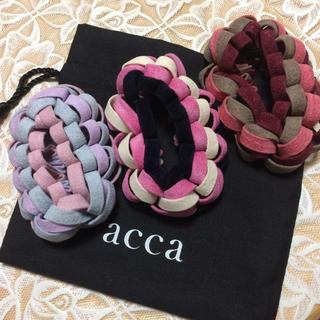 acca - acca エコスエードループシュシュ 3点セット 新品未使用 極美品
