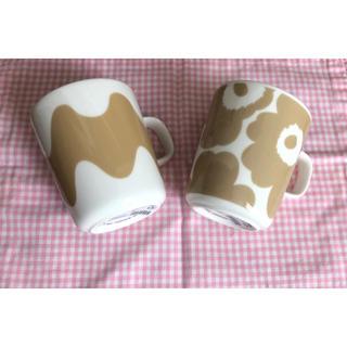 marimekko - マリメッコ  マグカップベージュウニッコ  ロッキ 廃盤品