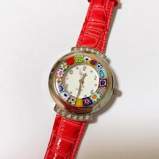 【ほぼ未使用】ベネチアンガラス腕時計(腕時計)