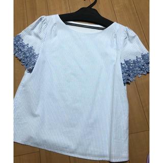 PROPORTION BODY DRESSING - ストライプ 袖刺繍 トップス