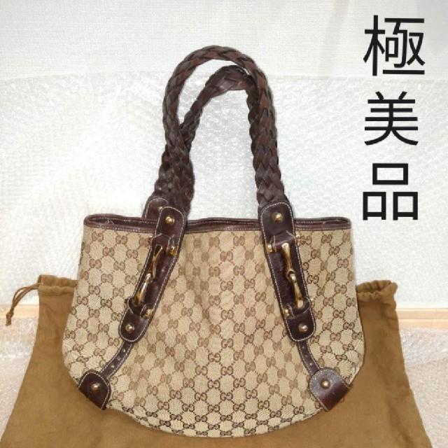 Gucci - 【極美品】GUCCI GG レザー ホースビット トートバッグ ハンドバッグの通販