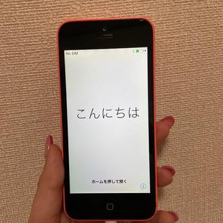 Apple - iPhone5c 16GB 本体 ピンク au