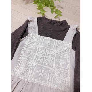SM2 - サマンサモスモス 刺繍レースワンピース リネン100%