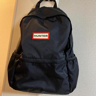 ハンター(HUNTER)のHunter リュック 中古品 ブラック 値段交渉◎ タイムセール!明後日まで(バッグパック/リュック)