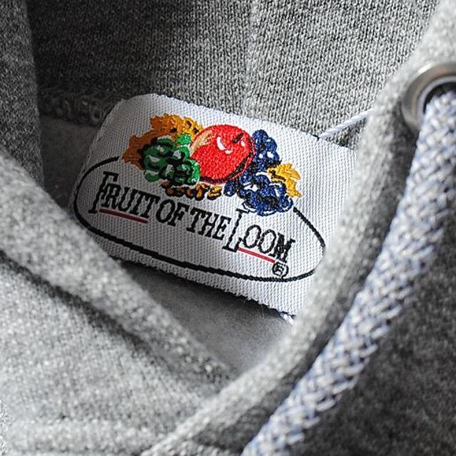 Ron Herman(ロンハーマン)のfruit of the loom ロゴワッペン Lグレー ビッグパーカー メンズのトップス(パーカー)の商品写真
