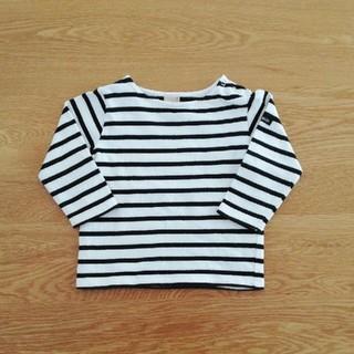 プティマイン(petit main)のプティマイン ボーダー 長袖トップス 90cm(Tシャツ/カットソー)