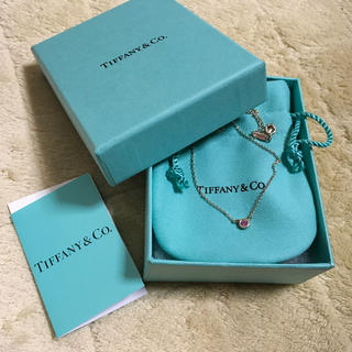 Tiffany & Co. - ティファニー ピンクサファイアネックレス 美品