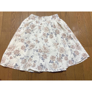 エブリン(evelyn)の花柄スカート(ひざ丈スカート)