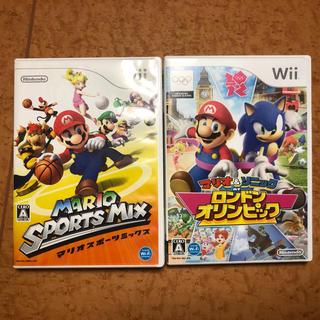 Wii - Wiiソフト マリオスポーツミックスとマリオ&ソニックATロンドンオリンピック