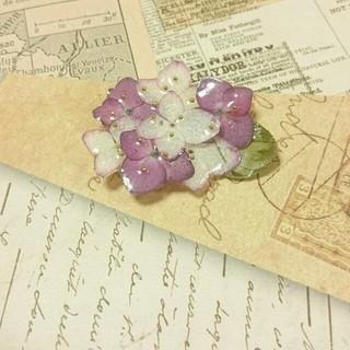 在庫処分☆ピンクの紫陽花ブローチ(ブローチ/コサージュ)