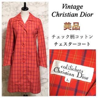 Christian Dior - 【美品】【90年代】Christian Dior チェックチェスターコート