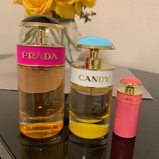 プラダ(PRADA)のPRADA CANDY 香水 3つセット ポーチ付き(香水(女性用))