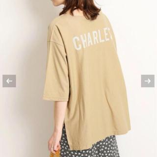 IENA SLOBE - CHARLESバックプリントTシャツ