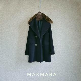 Max Mara - 超高級 美品 ビッグリアルファーコート 最高級白タグ マックスマーラ 送料無料