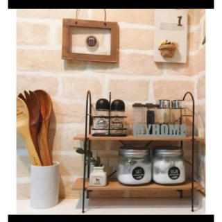 Francfranc - 調味料ラック 調味料スタンド スパイスラック 新生活 魅せる収納 キッチンラック