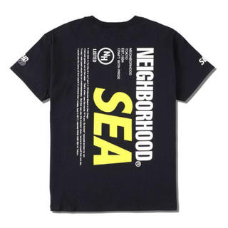 NEIGHBORHOOD - L NEIGHBORHOOD × WIND AND SEA tee Black