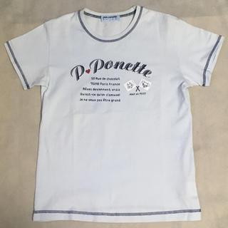 pom ponette - ベビーブルー(淡い水色)Tシャツ 160(L)