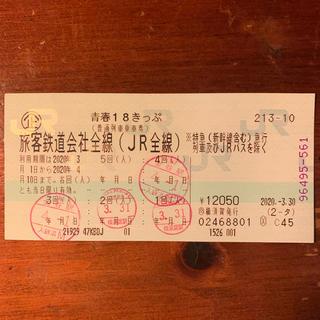 ジェイアール(JR)の青春18切符 青春18きっぷ 1回分(鉄道乗車券)