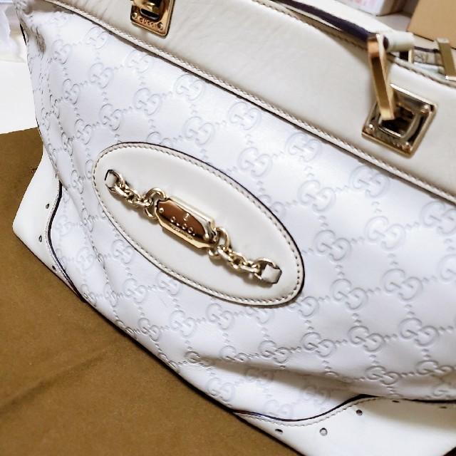 Gucci - 【本物】【GUCCI】GUCCIシマ ハンドバッグの通販