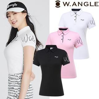 ☆W.ANGLE GOLF☆新品/正規/タグ付き ロゴポイントポロシャツ