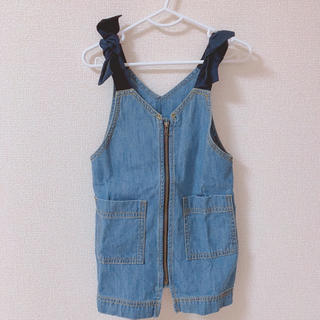 F.O.KIDS - 肩リボンサロペットスカート
