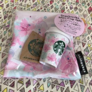 スターバックスコーヒー(Starbucks Coffee)の桜ミニカップギフト*スターバックス2020さくら ※チケットなし(小物入れ)