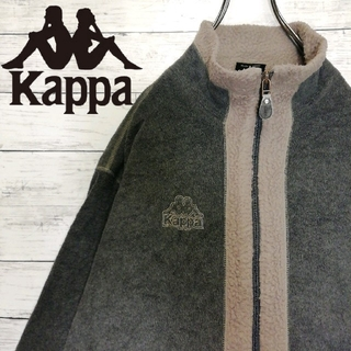 カッパ(Kappa)のカッパ フリースジャケット 90s フルジップ ワンポイントロゴ バイカラー(ブルゾン)