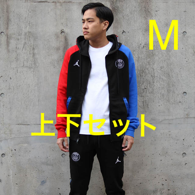 NIKE(ナイキ)のNIKE JORDAN PSG フリースフルジップ&フリースパンツ 上下セット メンズのジャケット/アウター(ブルゾン)の商品写真