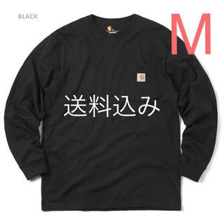 carhartt - 【M】CARHARTT カーハート K126 ポケット ロンT 黒