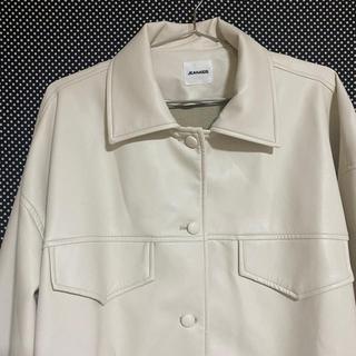 Ameri VINTAGE - レザーシャツ ジャケット ホワイト