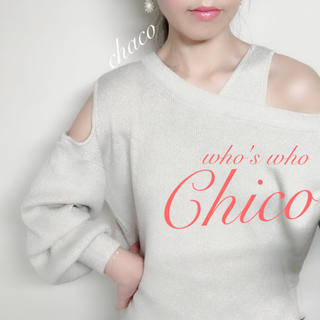 who's who Chico - 春新作🍒¥7590【Chico】ワンショルレイヤードタンク付きニット