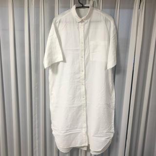 GU - GU 白のシャツワンピ