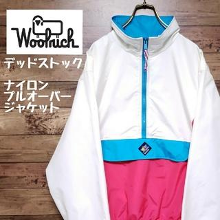 WOOLRICH - 《デッドストック》ウールリッチ ナイロン プルオーバージャケット 刺繍ロゴ XL