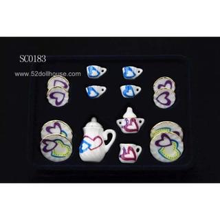 SC0183 ミニチュア食器シリーズ ハート(ミニチュア)