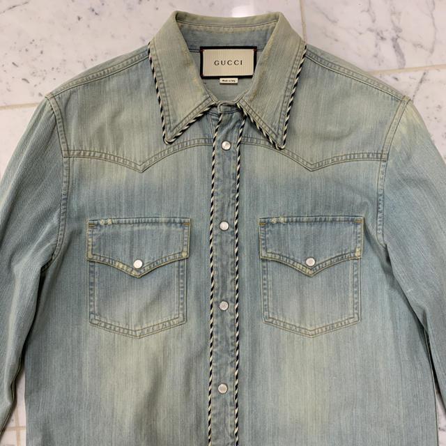 リューズ 時計 スーパー コピー / Gucci - 定価25万 GUCCI デニムシャツの通販