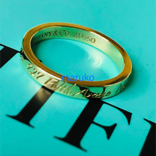 Tiffany & Co. - ティファニー k18 ノーツ ナロー リング