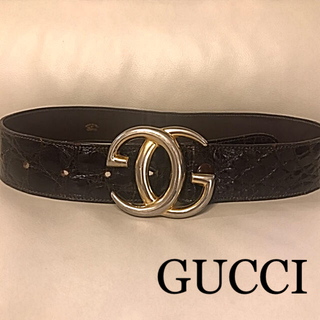 Gucci - 正規品!オールドグッチ 70's GGバックル 革ベルト
