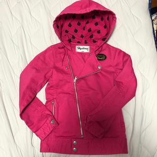 HYSTERIC MINI - ヒステリックミニ ライダースジャケット  130 KIDS 子供 ピンク 新品