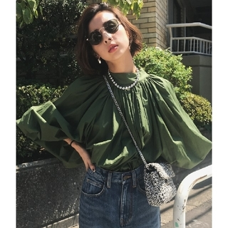 Ameri VINTAGE - AMERI  vintage VOLUME GATHER TOP