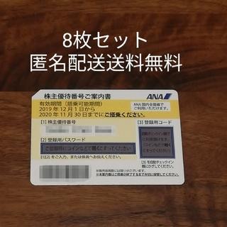 ANA(全日本空輸) - ANA 株主優待券 8枚 匿名配送 送料無料