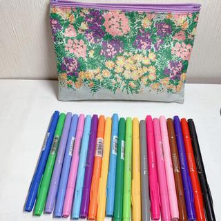 トンボエンピツ(トンボ鉛筆)のカラーペン21色+ラメペン9色+蛍光ペン2色+暗記ペン1本(ペン/マーカー)