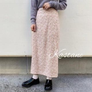 Kastane - 新品完売❀花柄ロングスカート