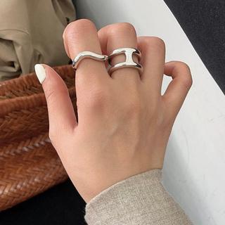 トゥデイフル(TODAYFUL)のSilver925_ H motif ring(リング(指輪))