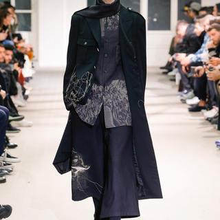 Yohji Yamamoto - ヨウジヤマモト 19aw 刺繍ロングジャケット