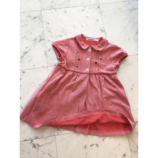 familiar - ファミリア ワンピース 半袖 90 赤