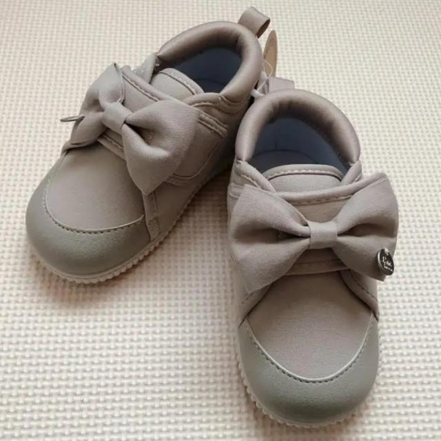 しまむら(シマムラ)のしまむら リボン ベビーシューズ  キッズ/ベビー/マタニティのベビー靴/シューズ(~14cm)(スニーカー)の商品写真