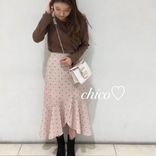 who's who Chico - 新品レア♡ドットイレヘムスカート